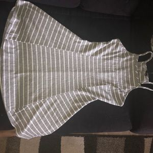 Gray striped dress size small